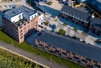 Pearce Homes Taw Wharf Development Aerial View