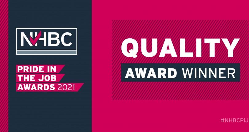 NHBC Pride in the Job Award Winners 2021